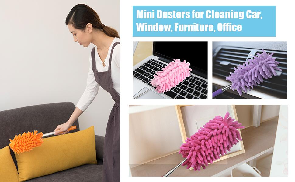 Vararo Microfiber Duster - Bending Microfiber Dust, Static Dusting Cleaner For Home Cleaning