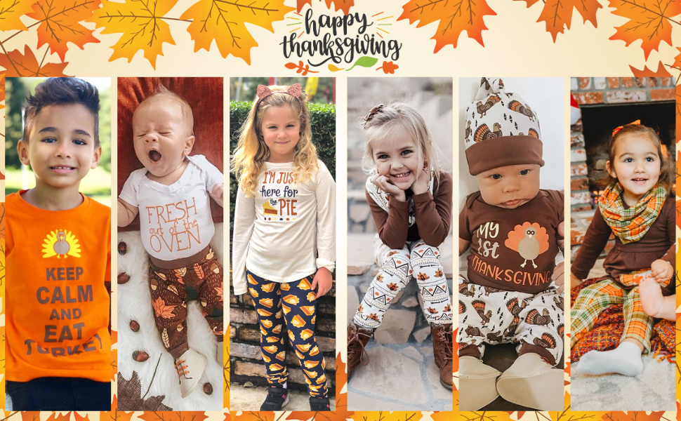 Unique Baby Thanksgiving Outfits Kids boys girls baby