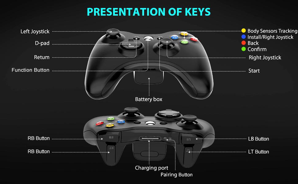 Black Xbox 360 Controller Wirelesss
