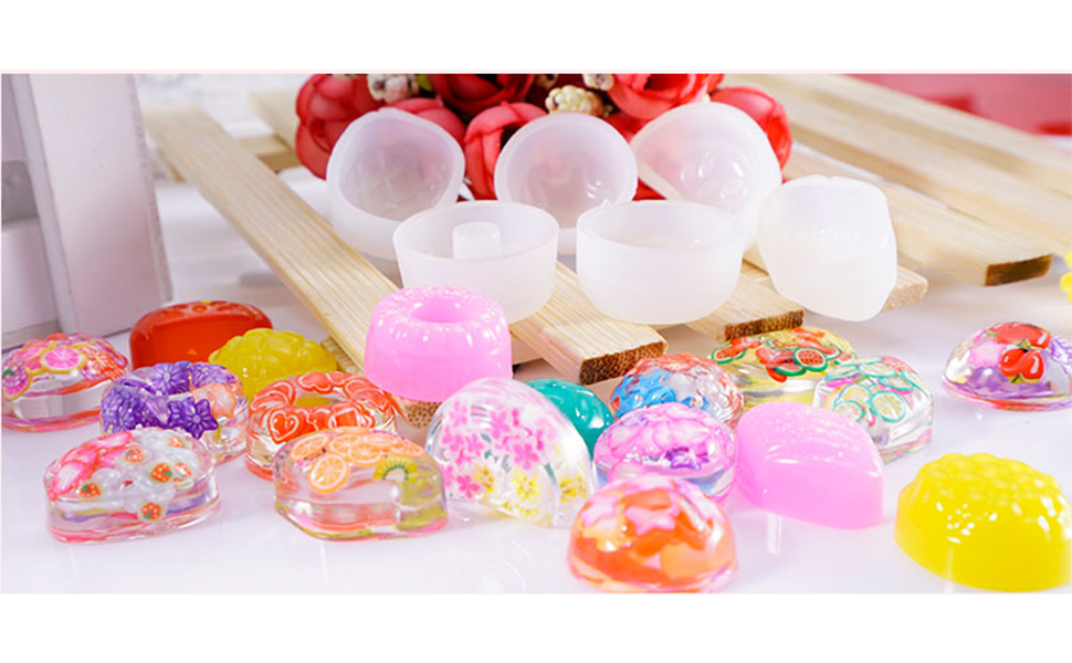 Handmade Resin Mold for Candy Beads made from Clear High Grade Silicone Size 30x16mm