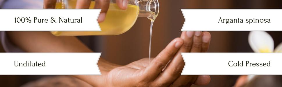 argan oil, steam distilled 100% pure natural oil