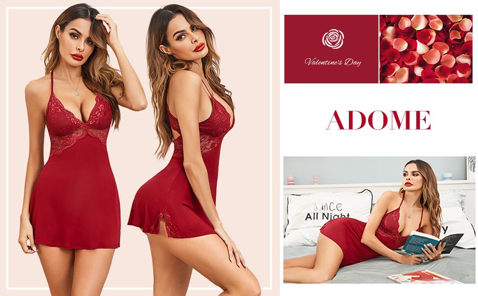 red lingerie for women