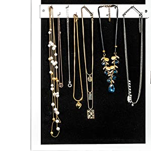 24 hooks for long necklace & 12 hooks for bracelets jewelry organizer