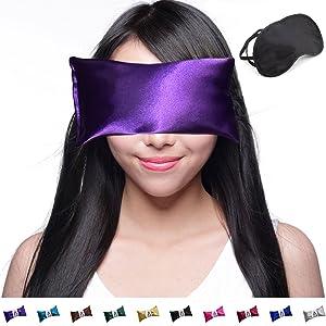 Happy Wraps Amethyst Satin Lavender Eye Pillow