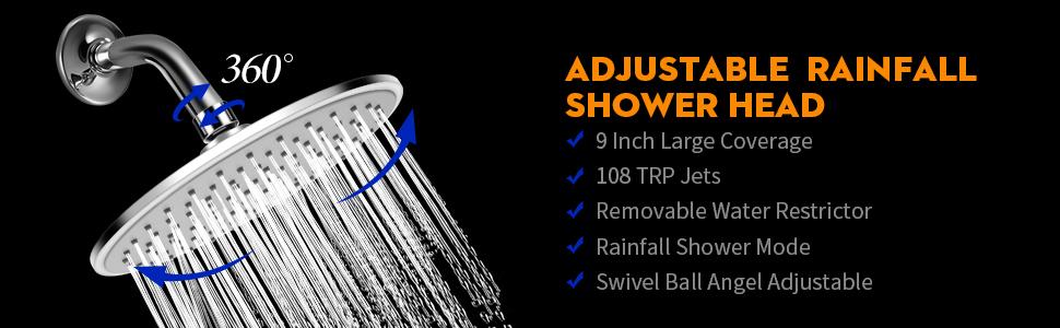 rain shower head extension,ran shower head,rainshower shower head,rain shower head chrome,showerhead