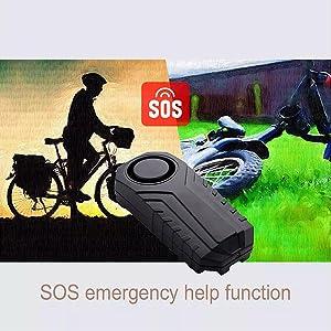Remote Control Warning Alarm Electric Bike Security Anti-theft Vibration Sensor