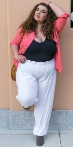 PIYOGA Pants Scrunched Bottom Loose Tall Petite Plus Flowy Boho Bohemian Lounge Beach Travel Summer