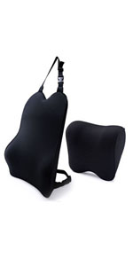 car seat back cushion and car neck pillow
