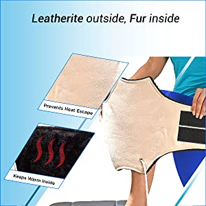 Leatherite Surface Knee Pain Relief Heating Pad