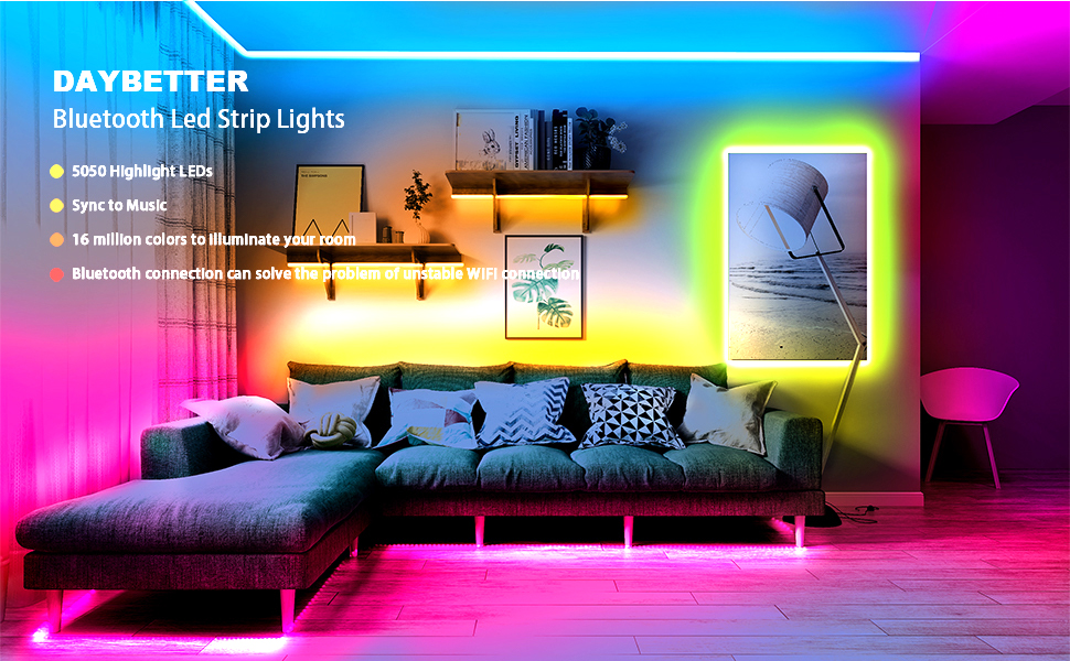 DAYBETTER Bluetooth Led Strip Lights