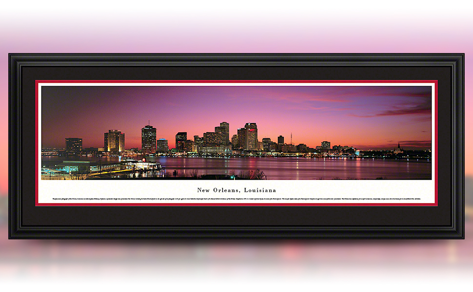 Amazon Com Blakeway Worldwide Panoramas Unframed New Orleans Louisiana At Sunset Blakeway Panoramas Skyline Posters Posters Prints