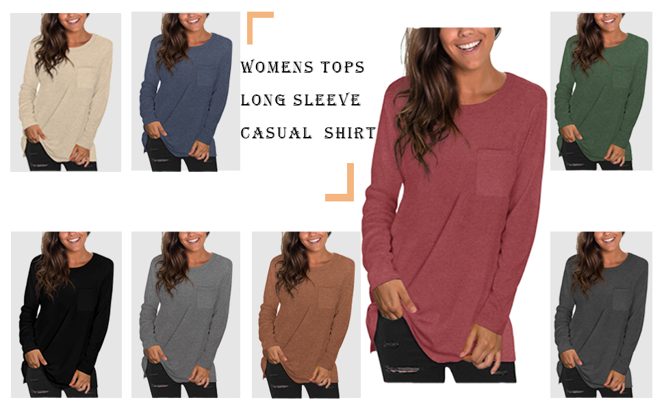 womens long sleeve oversized shirts