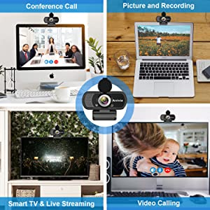 Amazon Com W5 Hd 1080p Webcam With Usb Plug Computer Camera For Video Calling And Recording 1080p Streaming