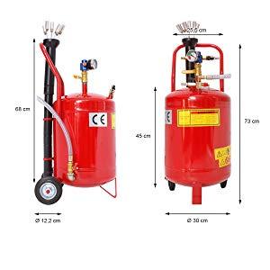 ECD Germany Aspirador de Aceite 24 Litros Extractor Neumático de ...