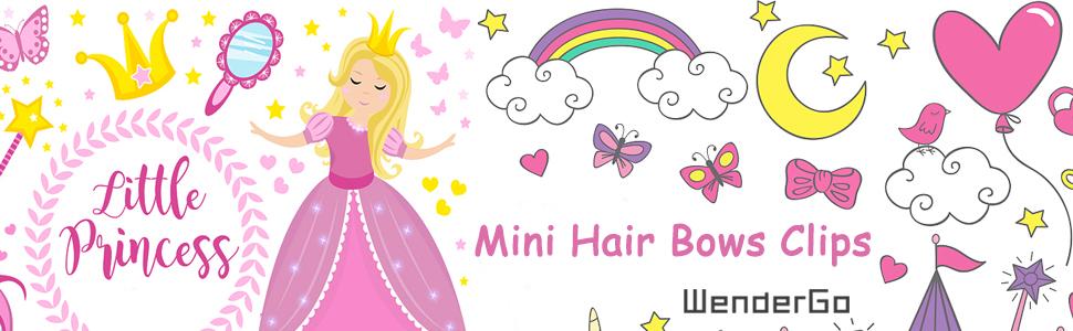 Mini Hair Bows Clips
