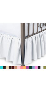 split corner bed skirt