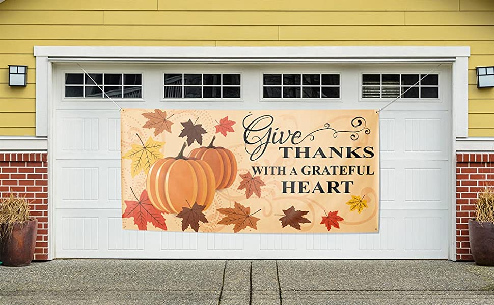fall seasonal gourds posters tarp outside all-weather scene setters turkey day buffet catering