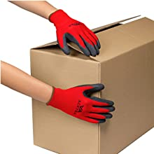 safety work gloves nylon coated latex rubber Acktra WG009
