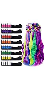 8 Color Hair Chalk Comb