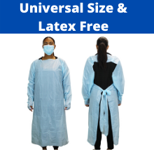 isolation gown, gown, cleanis  Disposable Isolation Gowns – Pack of 10 – Universal Size – Thumb Loops and Back Tie – Lightweight and Latex Free – By Cleanis 5e77bba4 7f55 415b 83cc bd4f50a8ca77