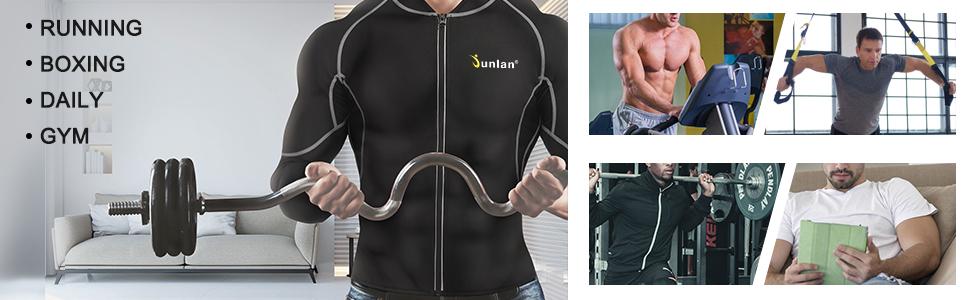 Men Sweat Neoprene Weight Loss Sauna Suit