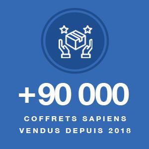 plus de 90000 coffrets sapiens vendus depuis 2018