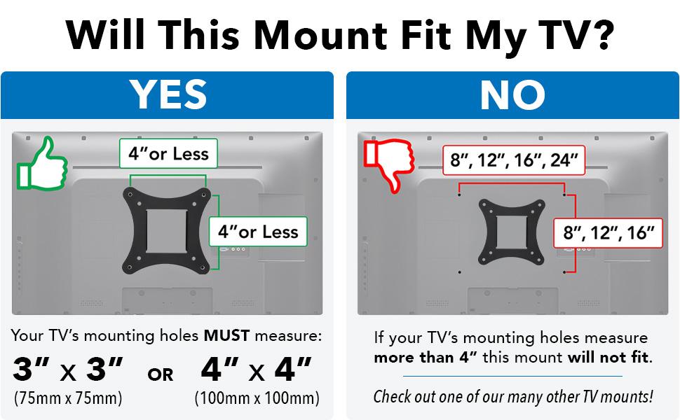 Mount-It! MI-2829 Small TV Monitor Wall Mount