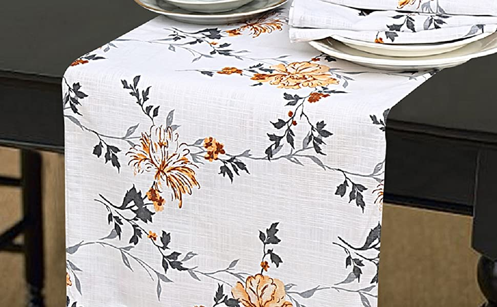 79 x 16 inches approx Table Runner Handmade Table Runner Floral Table Runner Heavy Cotton Home Decor Fabric