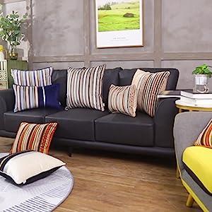 striped velvet throw pillow cover