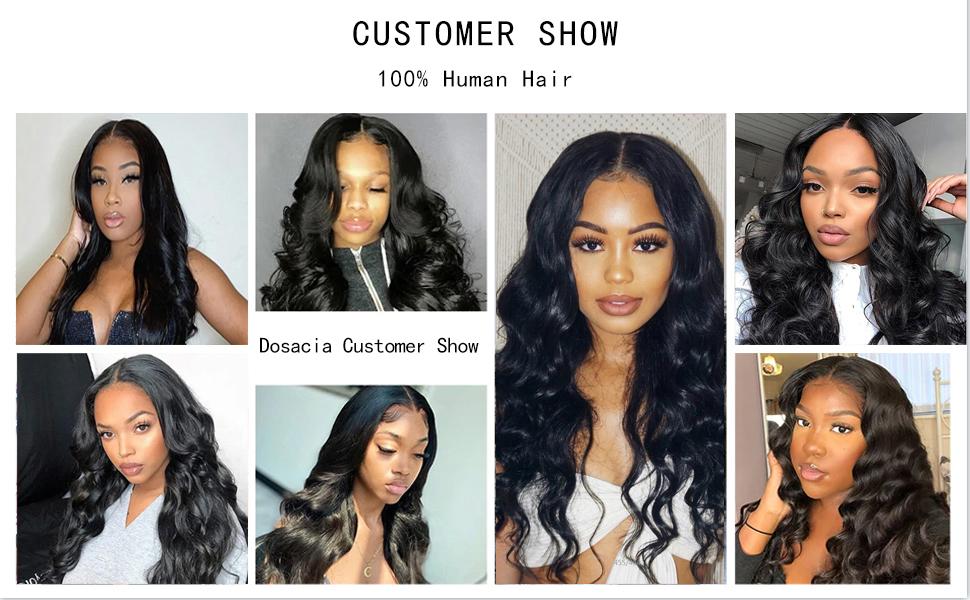 human hair body wave wigs