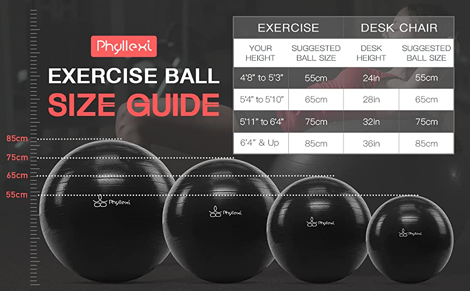 Stability ball size guide