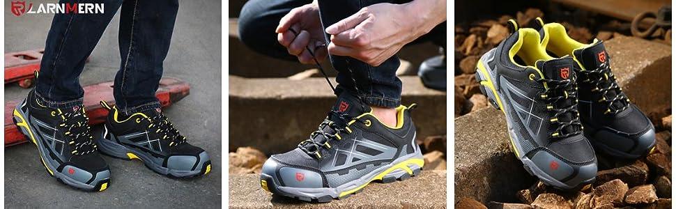 LARNMERN Zapatos de Mujer Seguridad de Acero Ligeras Calzado de Trabajo para Comodas Zapatos de Industria y Construcci/ón 37-41