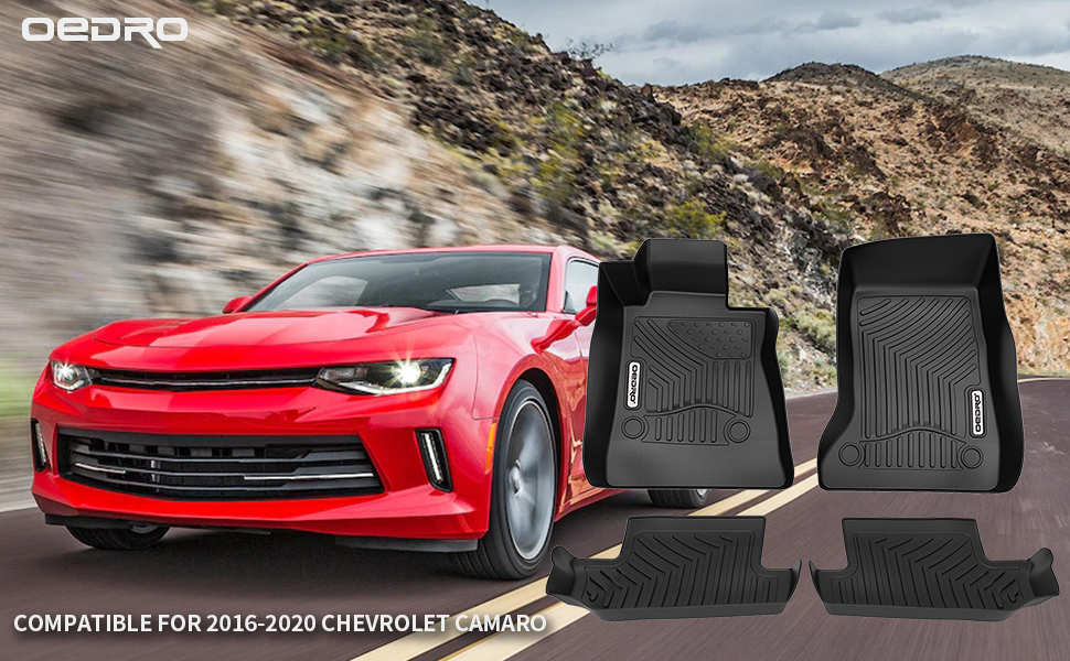 oEdRo Floor Mats Compatible for 2016-2018 Chevrolet Camaro