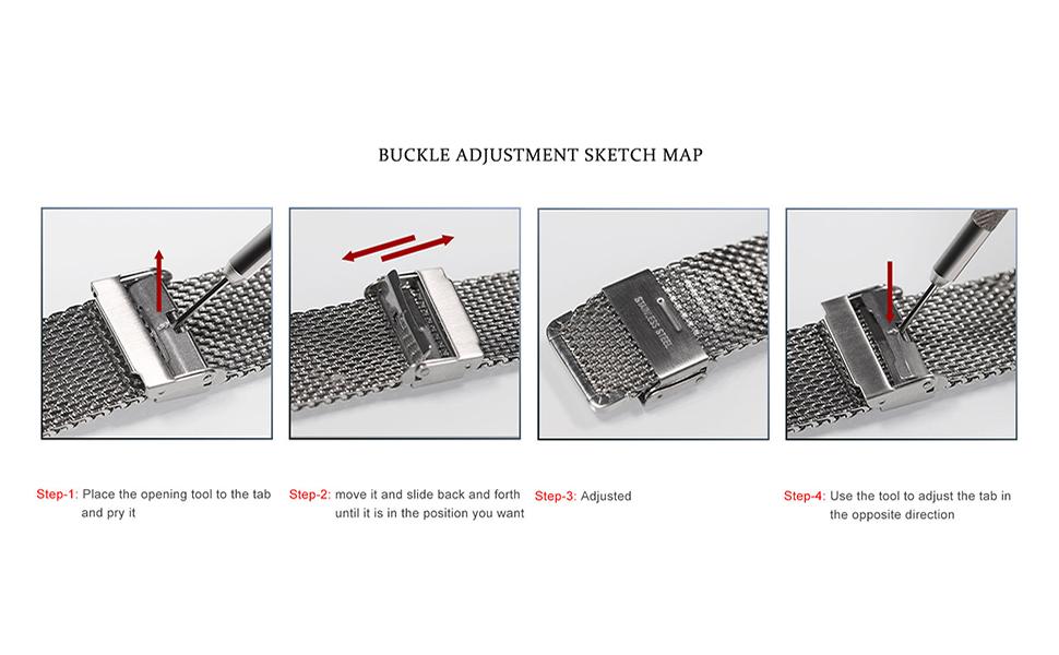 Watch Band Adjust Steps