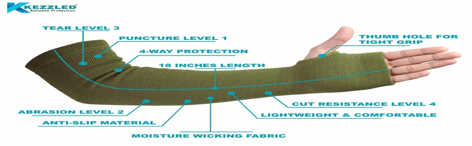 Kevlar Cut Level 4 Resistant Arm Protection Sleeves