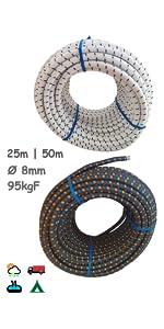 bungee koord koorden met haken elastisch touw banden riemen zeildoek 8mm autobungy kabels zwaar