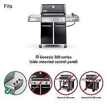 "34 1//4/"" Gas Burner 24.5/"" Flavorizer Bars for Weber Genesis E310 E320 S310 S320"