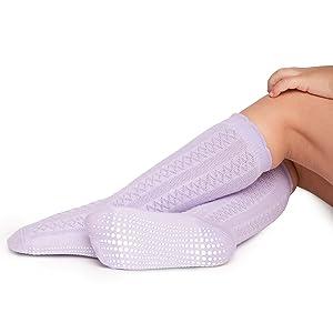 baby in fantasia a punto cordoncino calza viola con suola antiscivolo antiscivolo a trazione max
