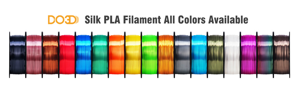 all colors pla silk filament available