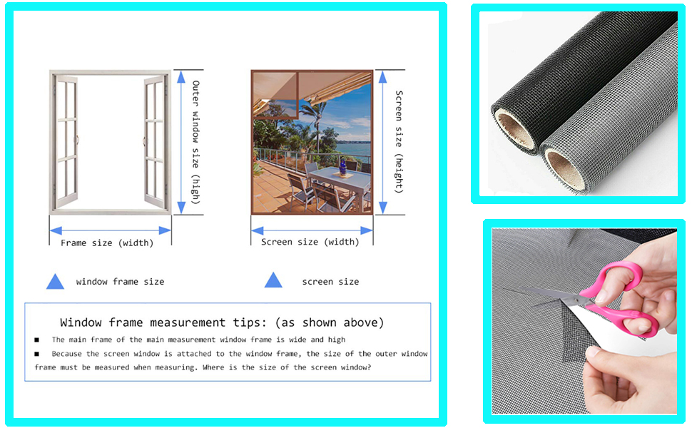 Loboo Idea Screens Rouleau de maille standard en fibre de verre pour fen/être et porte et patio protection d/écran