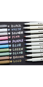 Blue Premium 20 Pack Highlight Gel Pen Set Yellow Black Orange Ohuhu 10 Colors Neon Color Gel Pens Cards DIY White Gold Green Adult Coloring Book Back to School Purple and Pink Gel Ink White Pens for Black Paper Drawing Sketching Purple Silver