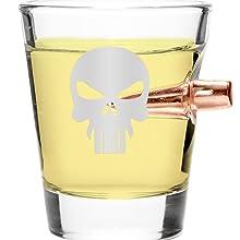 308 pUNISHER SHOT GLASS
