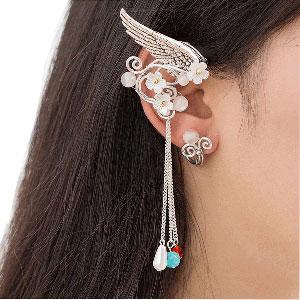 Tassels Elf Ear Cuffs