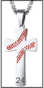 baseball cross necklace