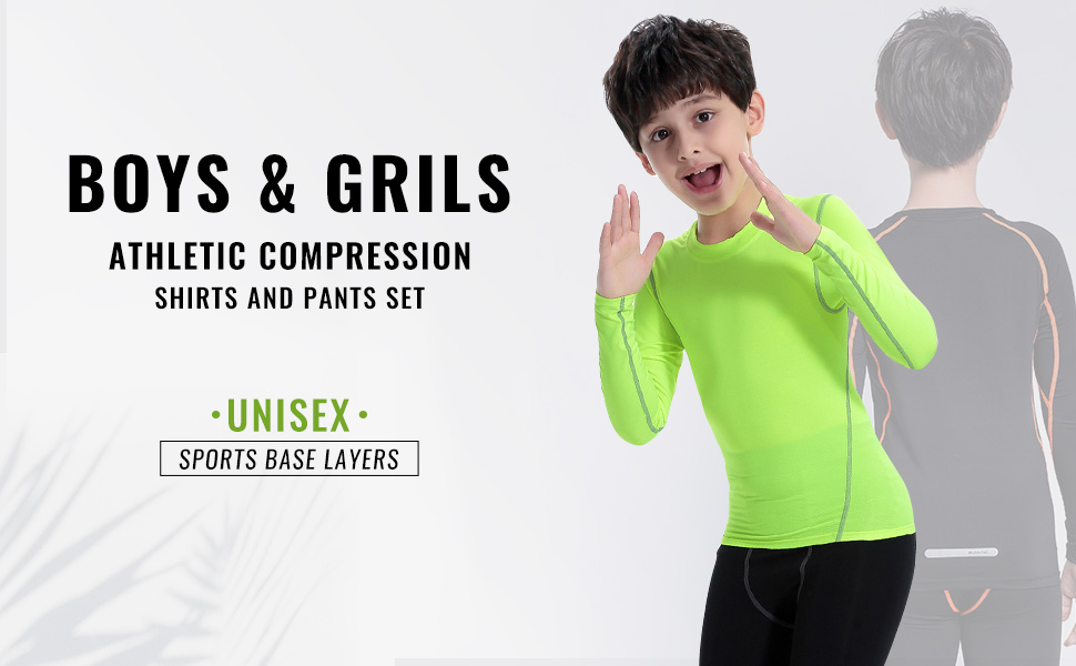 Kids Unisex Base Layer Thermal Under Layer