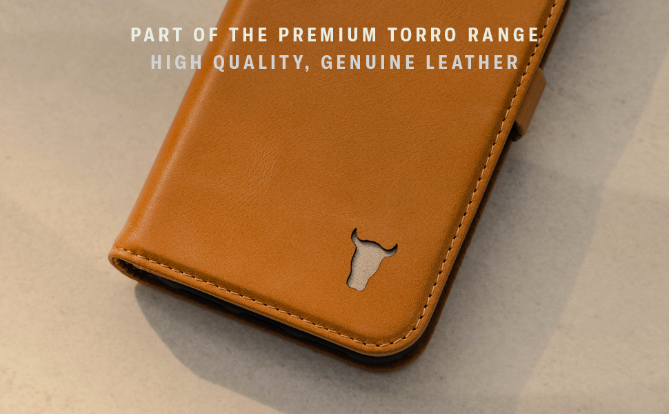 TORRO Tan Leather Stand Case for Apple iPhone 12