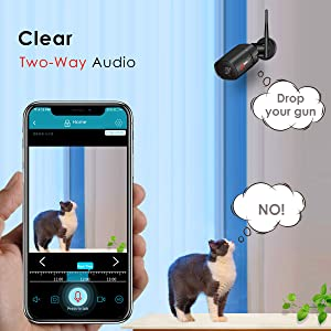 twoo-way audio camera