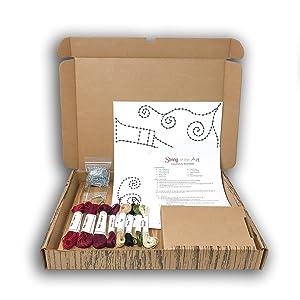string art wine box