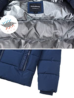 cozy warm thermal reflective quilted bubble insulated coat