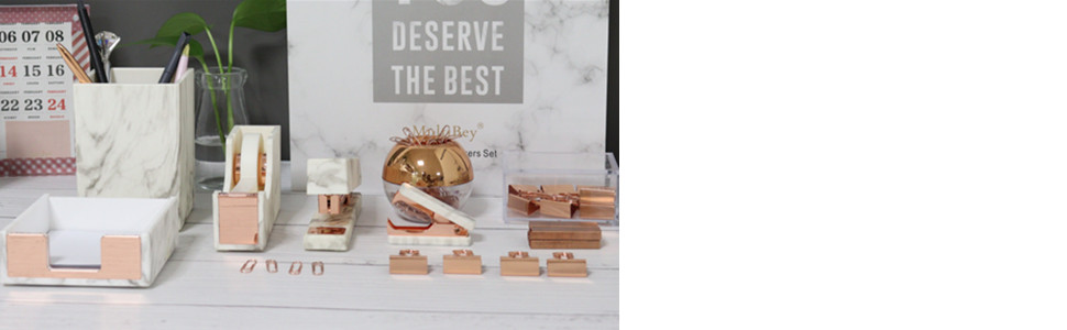 marble gold desk accessories organization office supplies organizer pencil holder tape dispenser